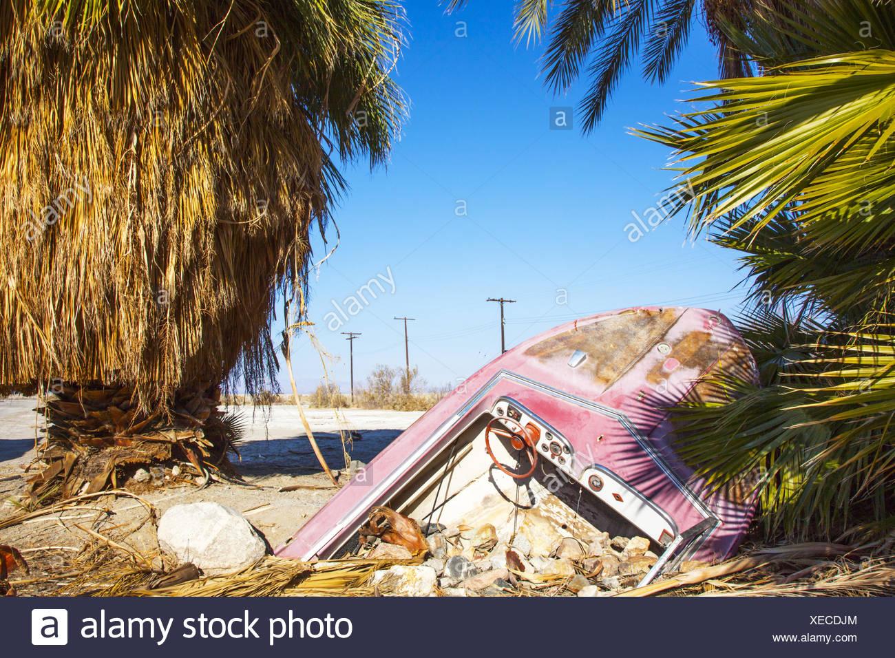 Salton Sea Beach Kalifornien Stock Photo