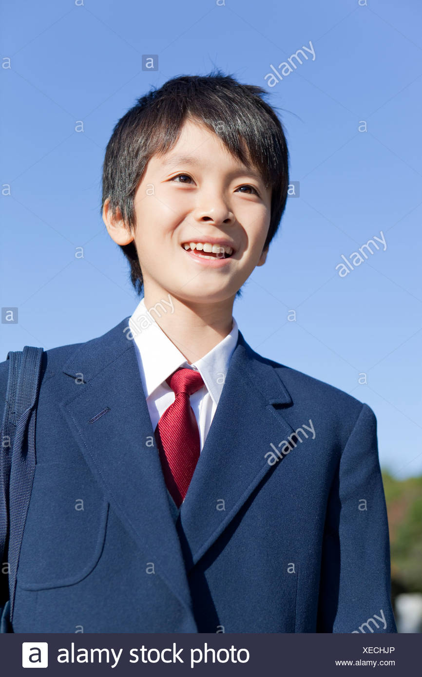 Portrait of Junior High School Boy - Stock Image