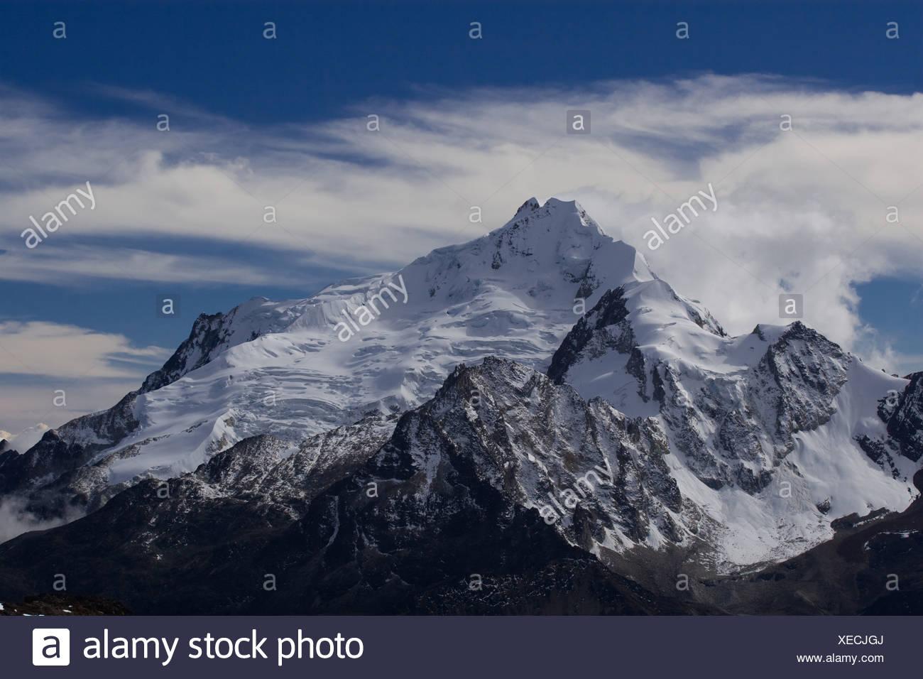 Huayna Potosi, (6088m) Boliva - Stock Image