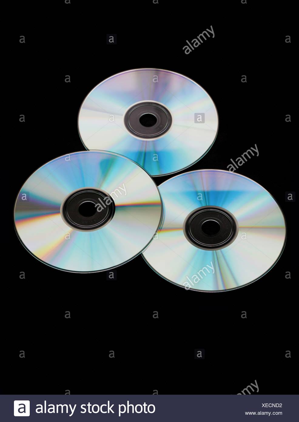 Studio shot of compact disc - Stock Image