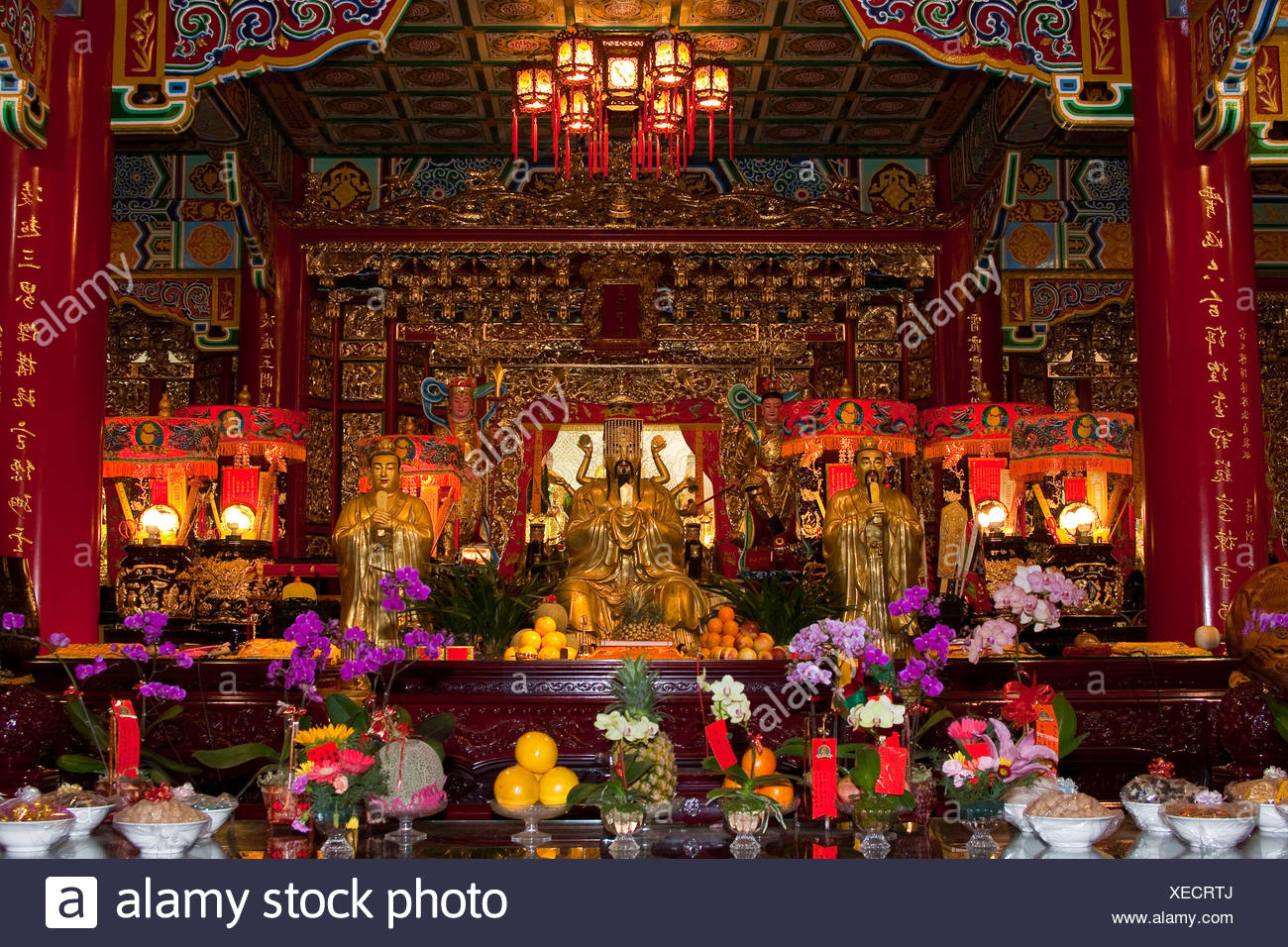 Asia, construction, constructions, portrait format, houses, homes, culture, art craft, pagoda, religion, sacred construction, sa - Stock Image