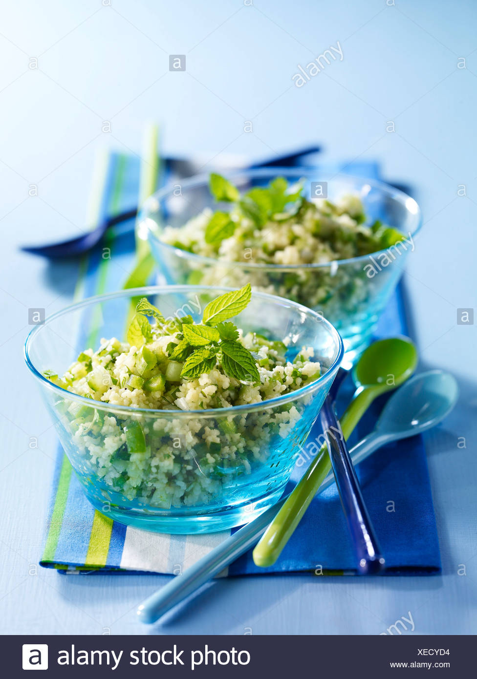 Green tabbouleh - Stock Image