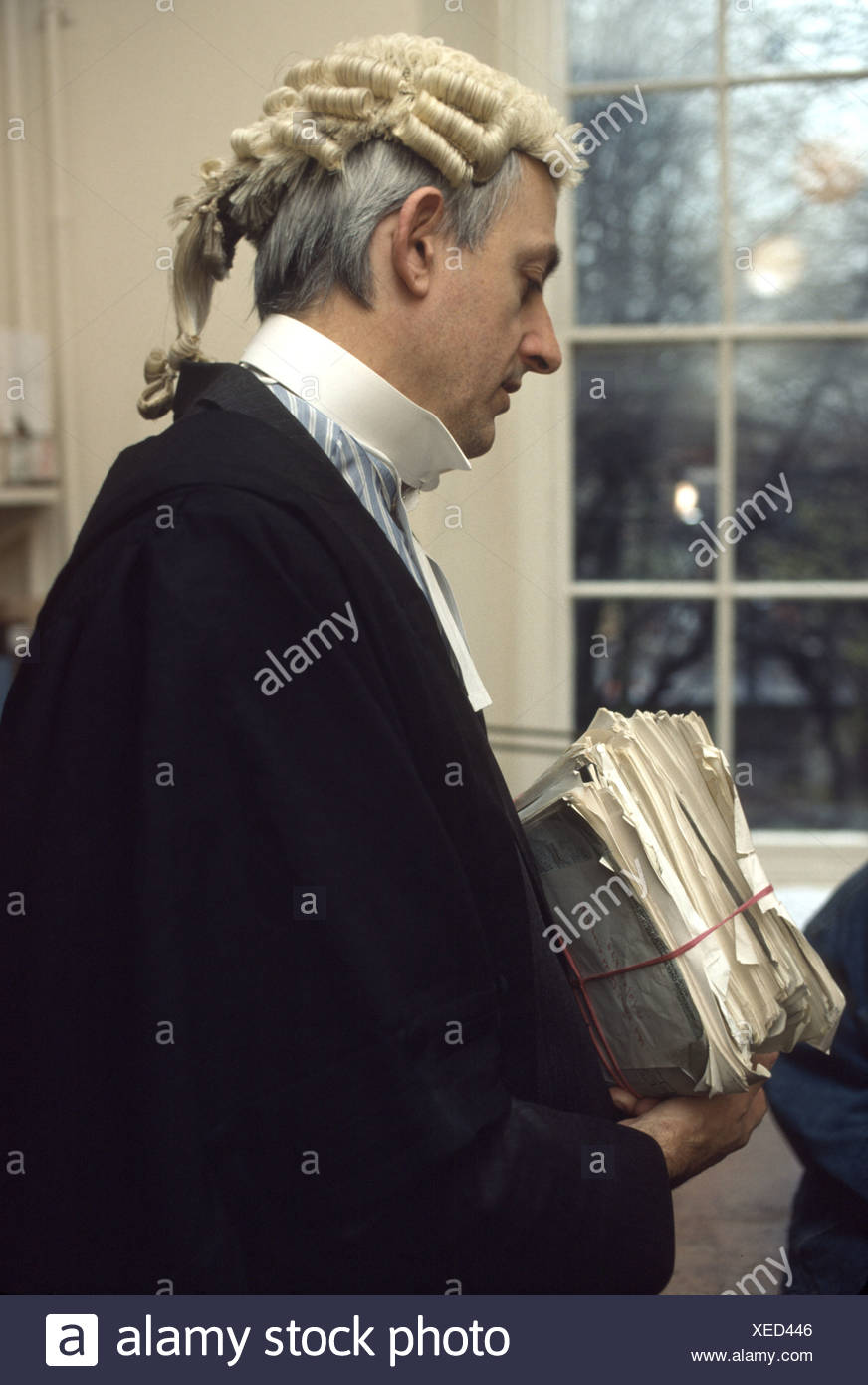 Barrister In Wig Gown Male Stock Photos & Barrister In Wig Gown Male ...