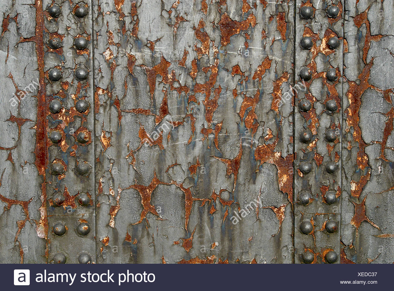 Extensive rusting on girders Stock Photo