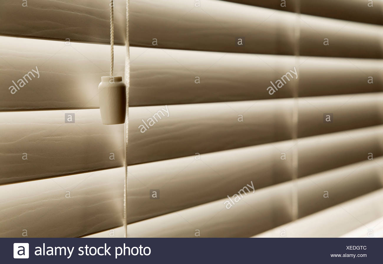 Close up Of Venetian blinds - Stock Image