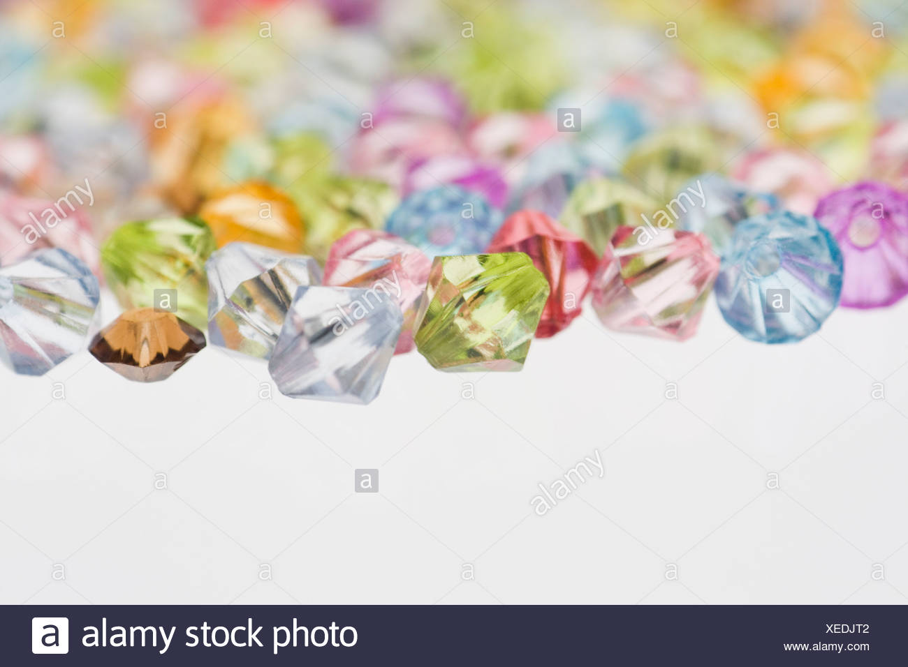 A selection of colorful beads, close-up - Stock Image