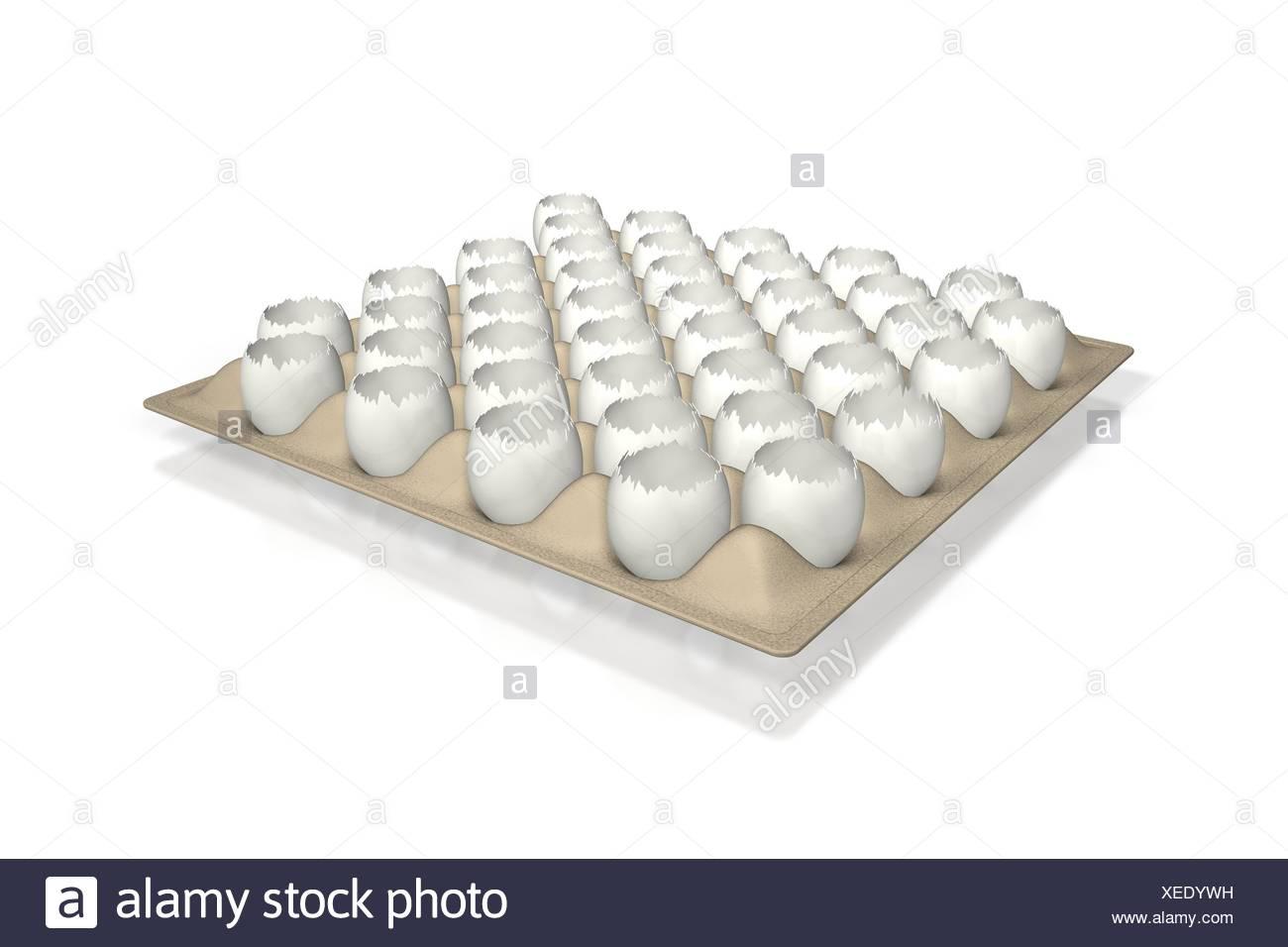 model design project concept plan draft transport broken eggs backdrop Stock Photo