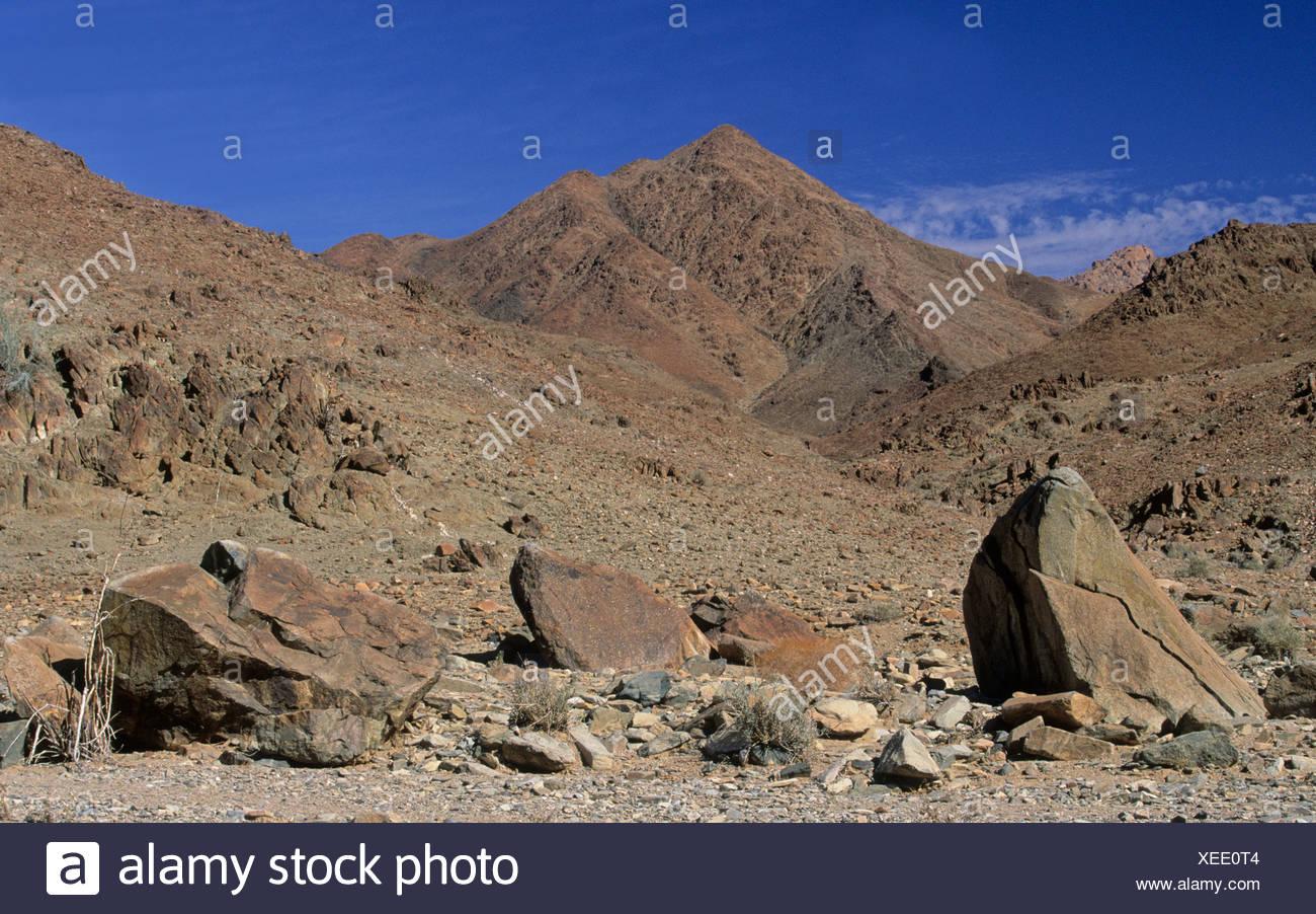 Rock desert, Richtersveld National Park, Northern Cape, South Africa - Stock Image