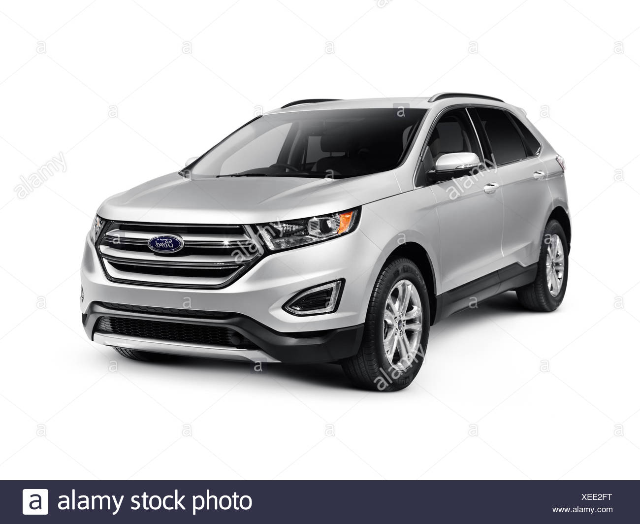 Silver  Ford Edge Sport Car Suv Crossover Vehicle