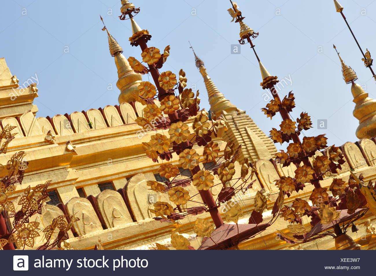 shwezigon pagoda,bagan,burma Stock Photo