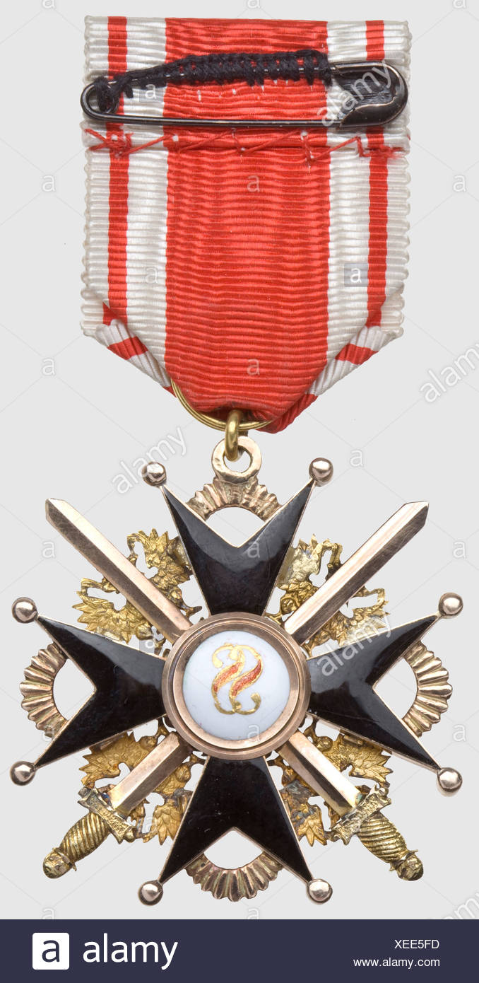 Order of St  Stanislaus, 3rd Class Cross with Swords, last