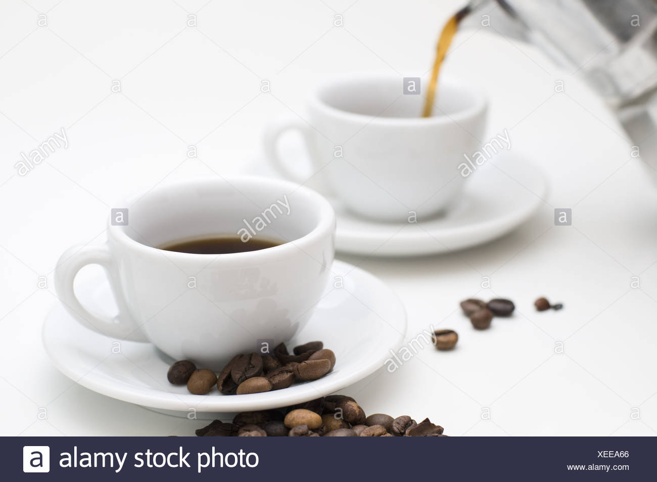 delicious espresso - Stock Image