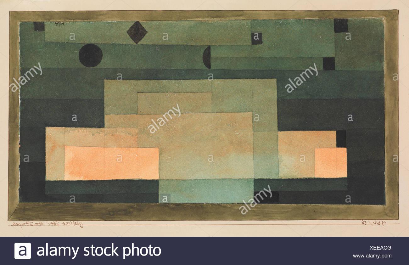 The Firmament Above the Temple. Artist: Paul Klee (German (born Switzerland), Münchenbuchsee 1879-1940 Muralto-Locarno); Date: 1922; Medium: - Stock Image