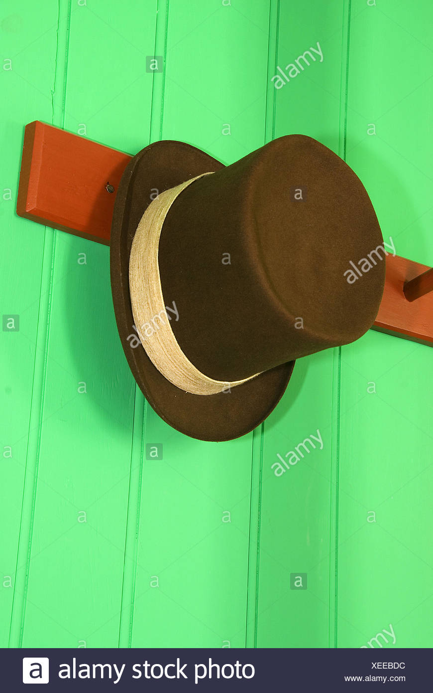 Hat at Chief Factor´s Residence, Fort Vancouver National Historic Site, Vancouver National Historic Reserve, Washington, USA - Stock Image