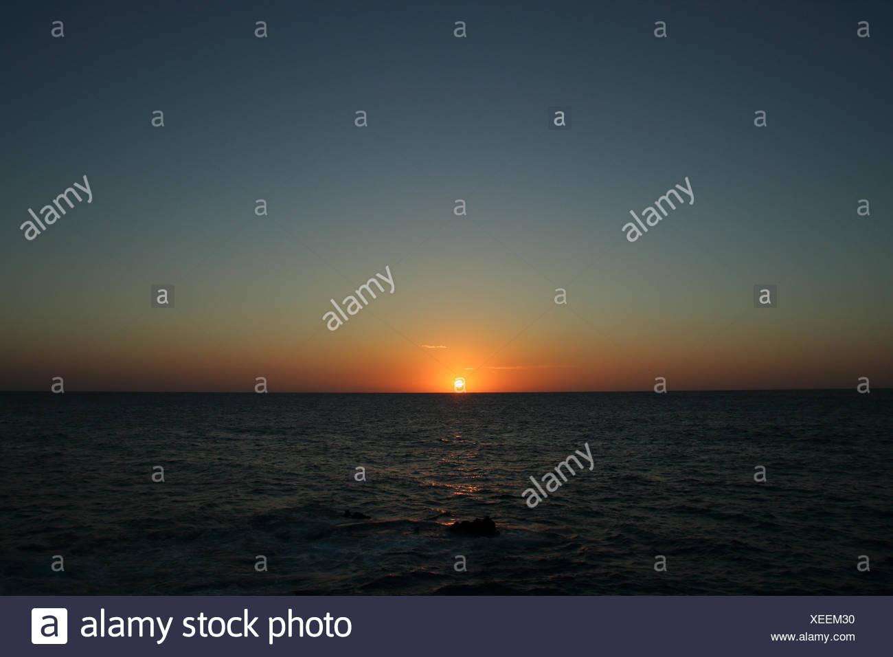 Sunset over ocean, Japan - Stock Image