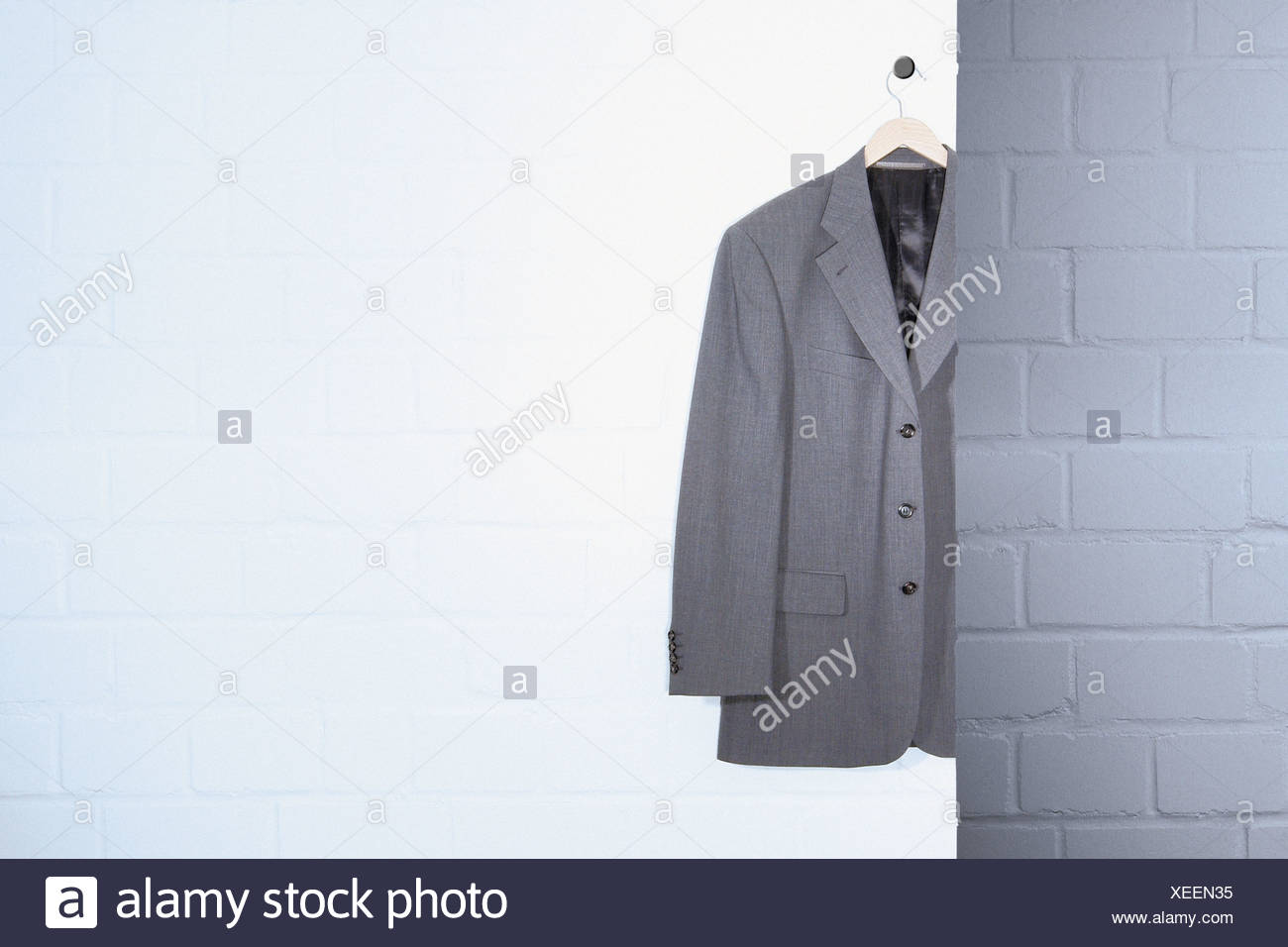 Hanging Suit Jacket   Stock Image
