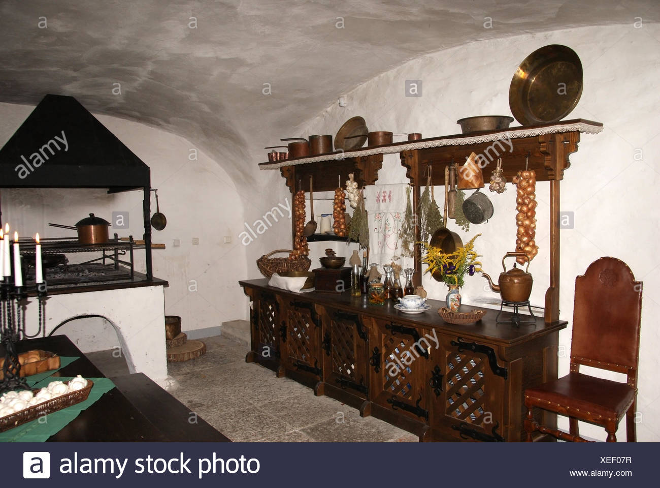 Old kitchen - Stock Image