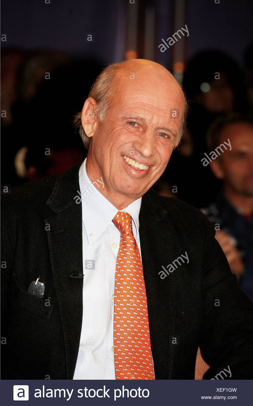 Bogner, Willy, * 23.1.1942, German athlete,  (ski racer, alpine) and businessman, portrait, guest in the German telecast 'NDR Talk Show', Hamburg, Germany, 21.10.2011, , Additional-Rights-Clearances-NA - Stock Image