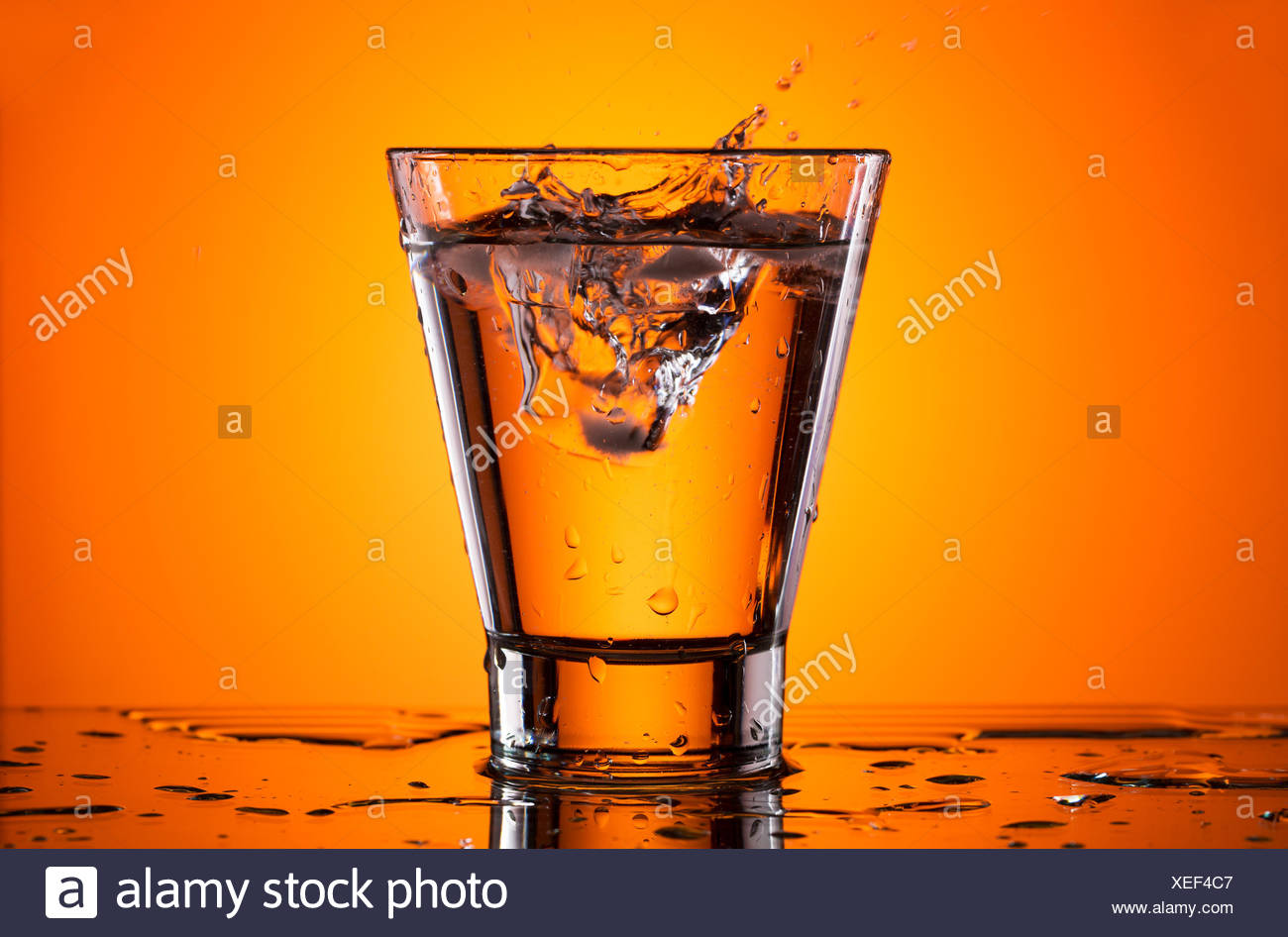 Orange Ice And Water Poster