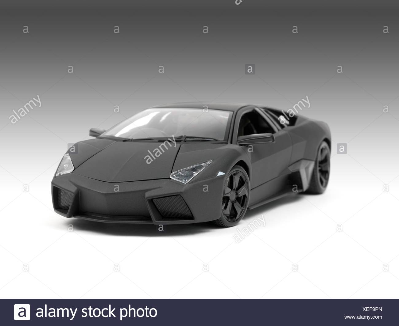 A model sports car isolated against a white background Stock Photo