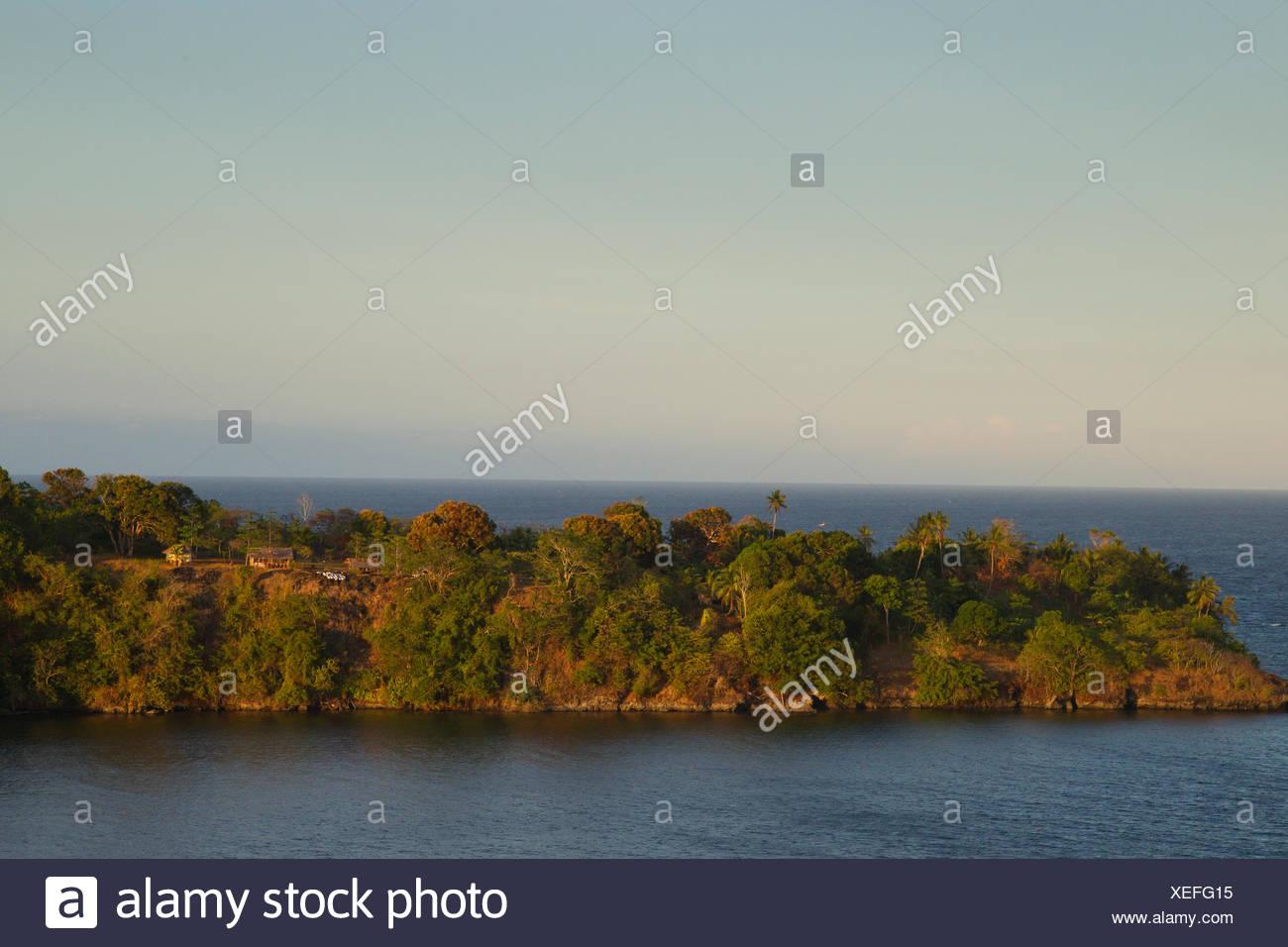 Northeast Coast of Papua New Guinea, Solomon Sea - Stock Image