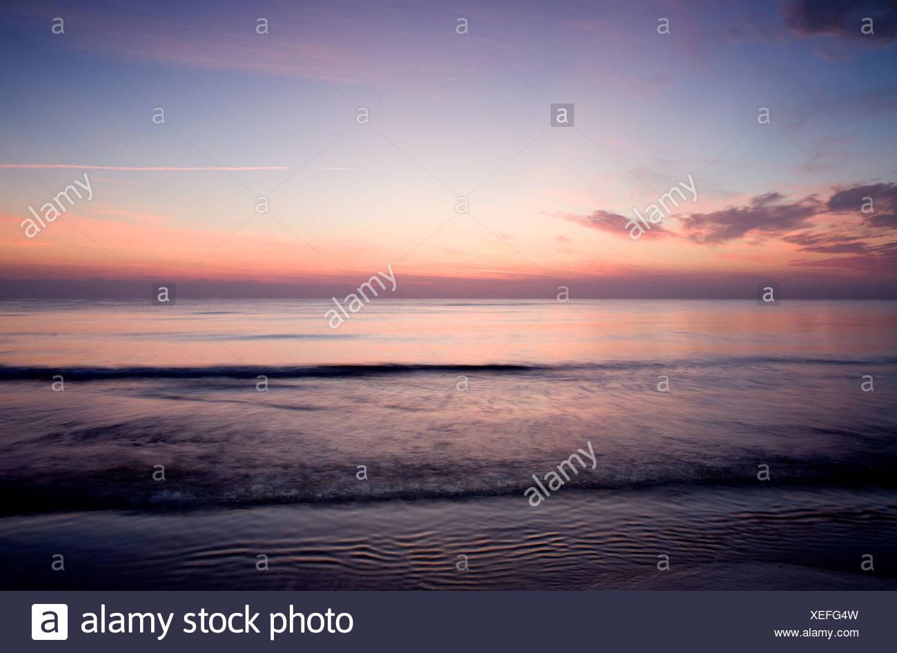 Seascape at sunset - Stock Image