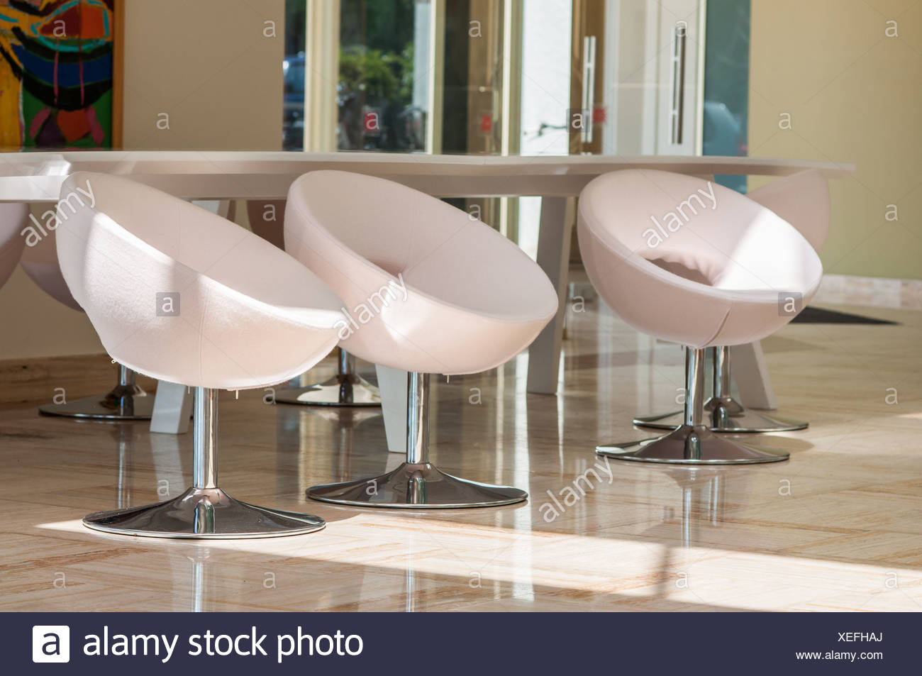 three chairs in the office & three chairs in the office Stock Photo: 284313978 - Alamy