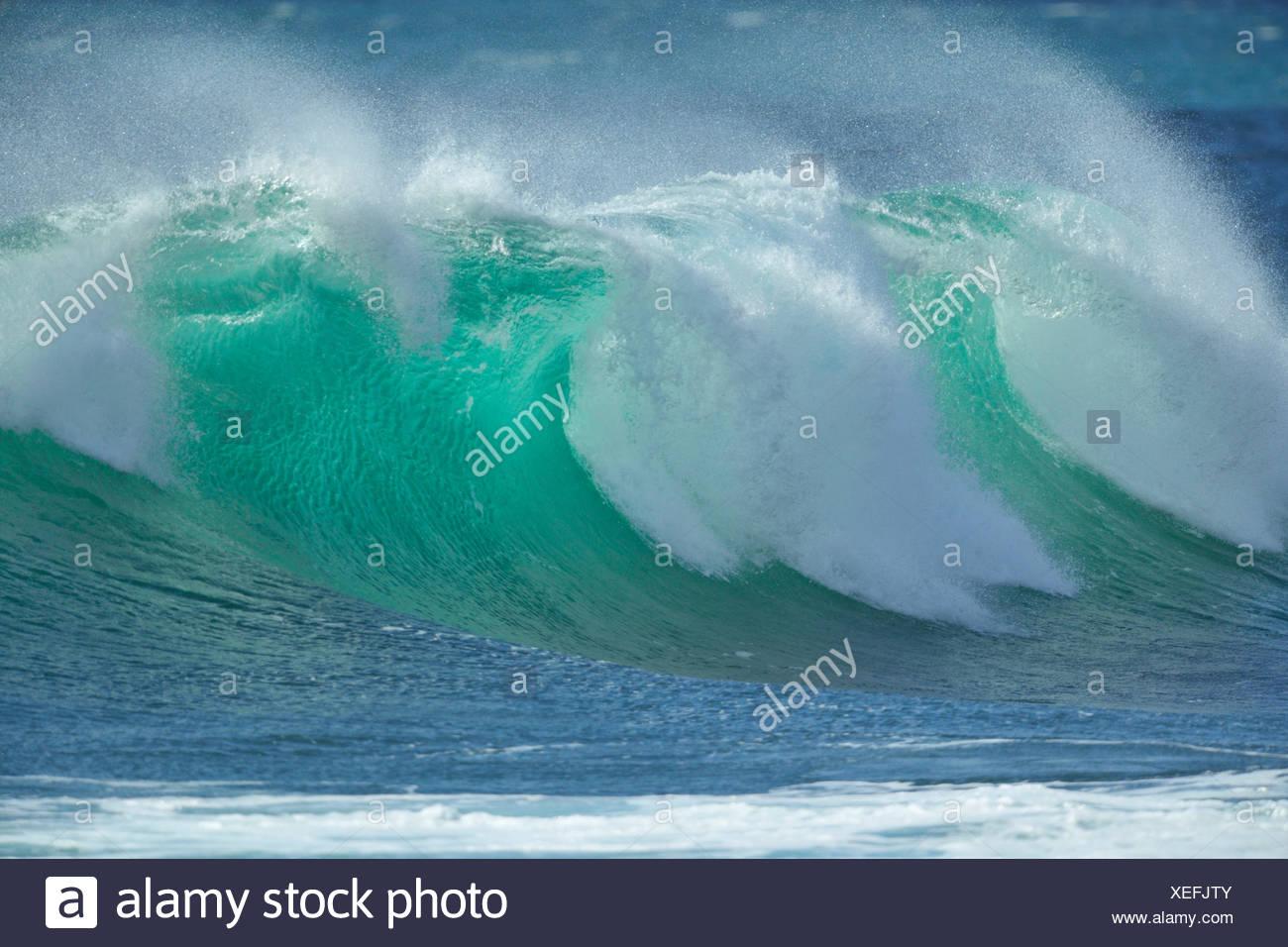 Breaking Wave, Atlantic Ocean, Portugal - Stock Image