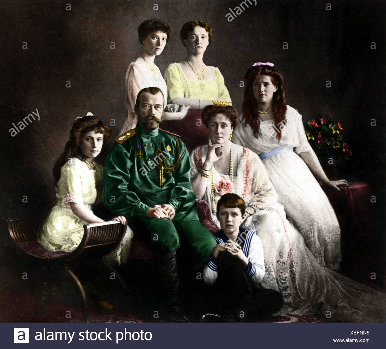 Nicholas Ii His Family Stock Photos and Images