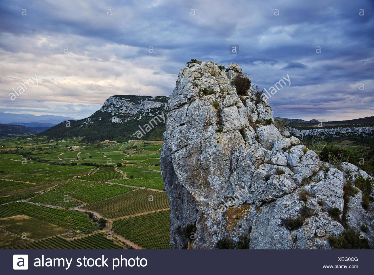 Cirque de Vingrau, Roussillon, France - Stock Image