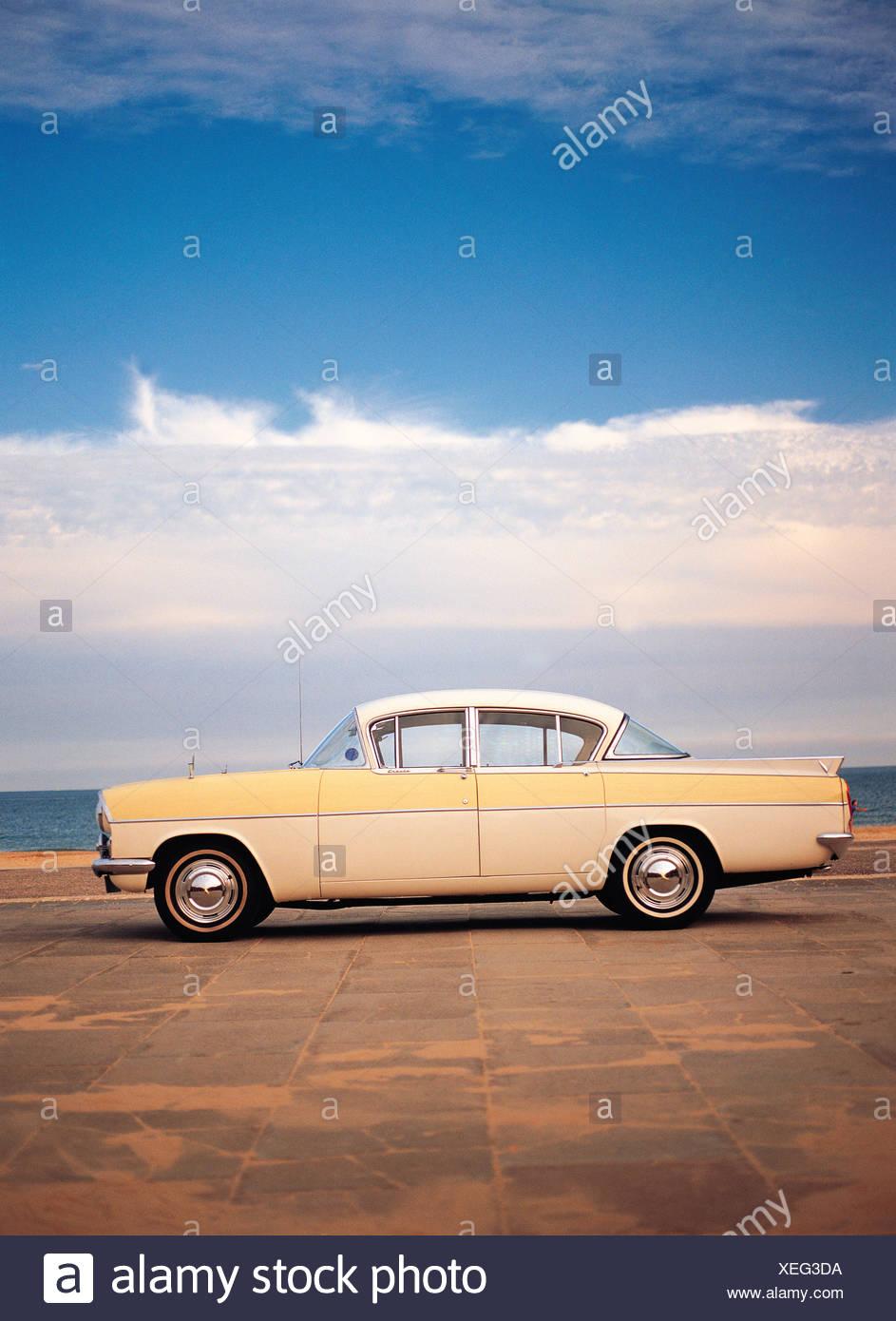 Vintage car. 1950s. Vauxhall Cresta. British. - Stock Image