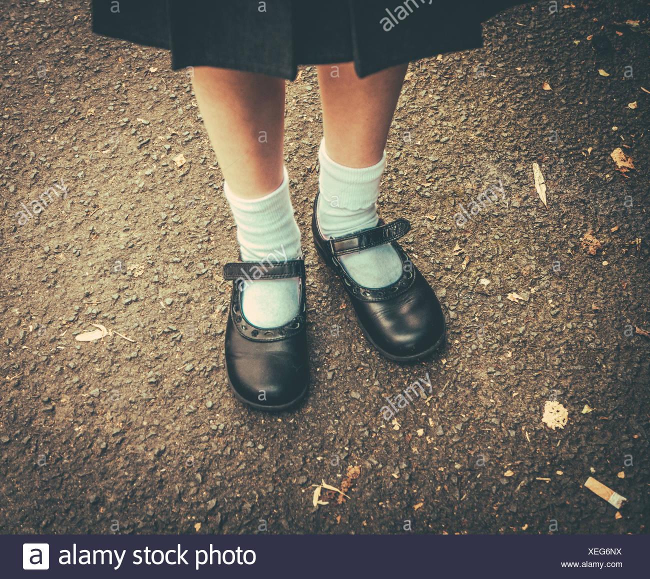 Back To School Girl - Stock Image