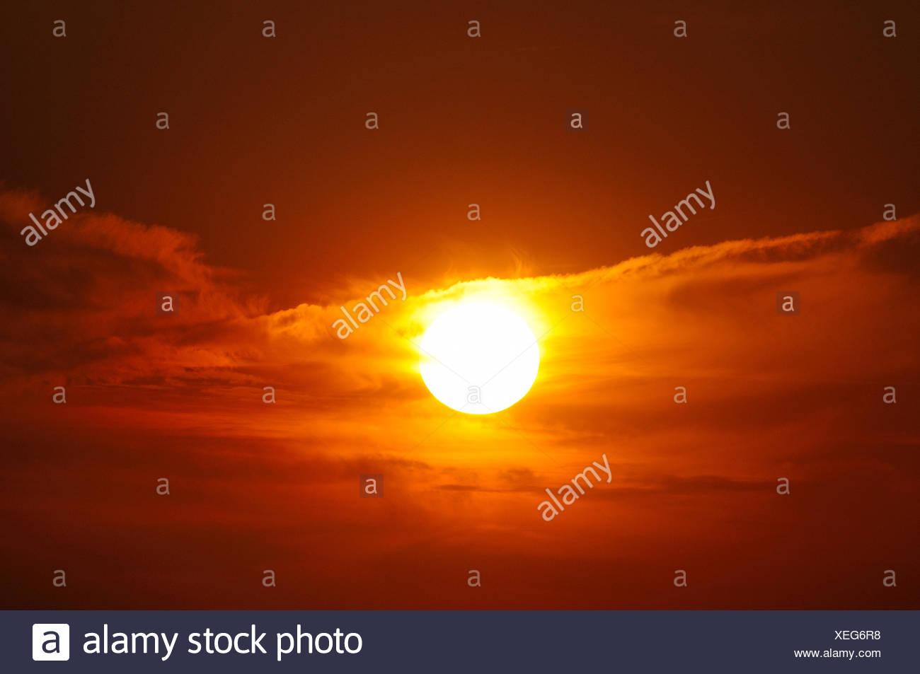 sun,sunset - Stock Image