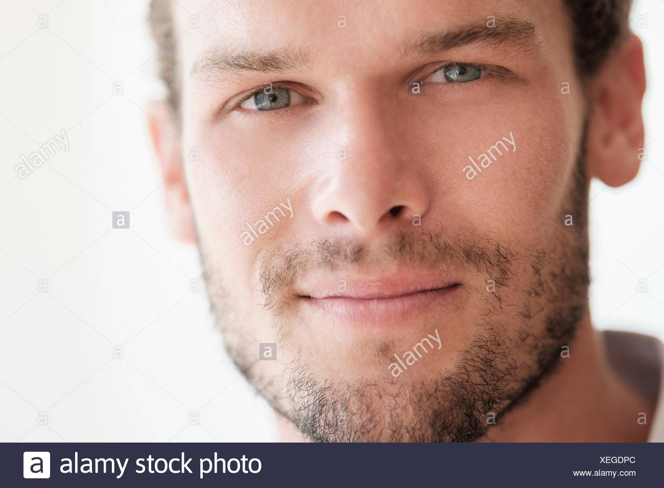 Portrait of mid-adult man - Stock Image