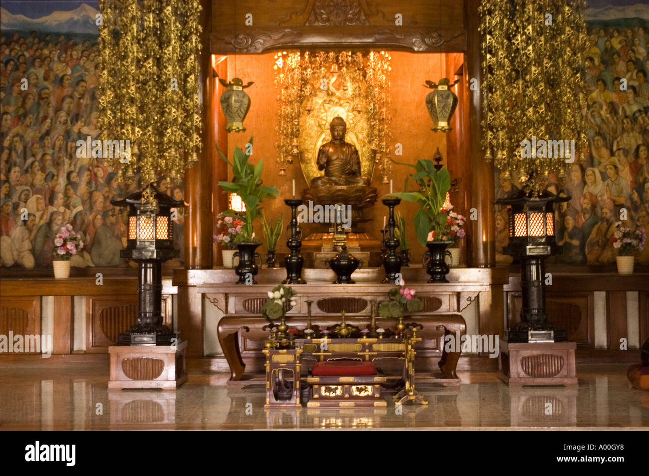 Stone Fireplace Pictures Interior With Altair And Buddha Statue In Japanese