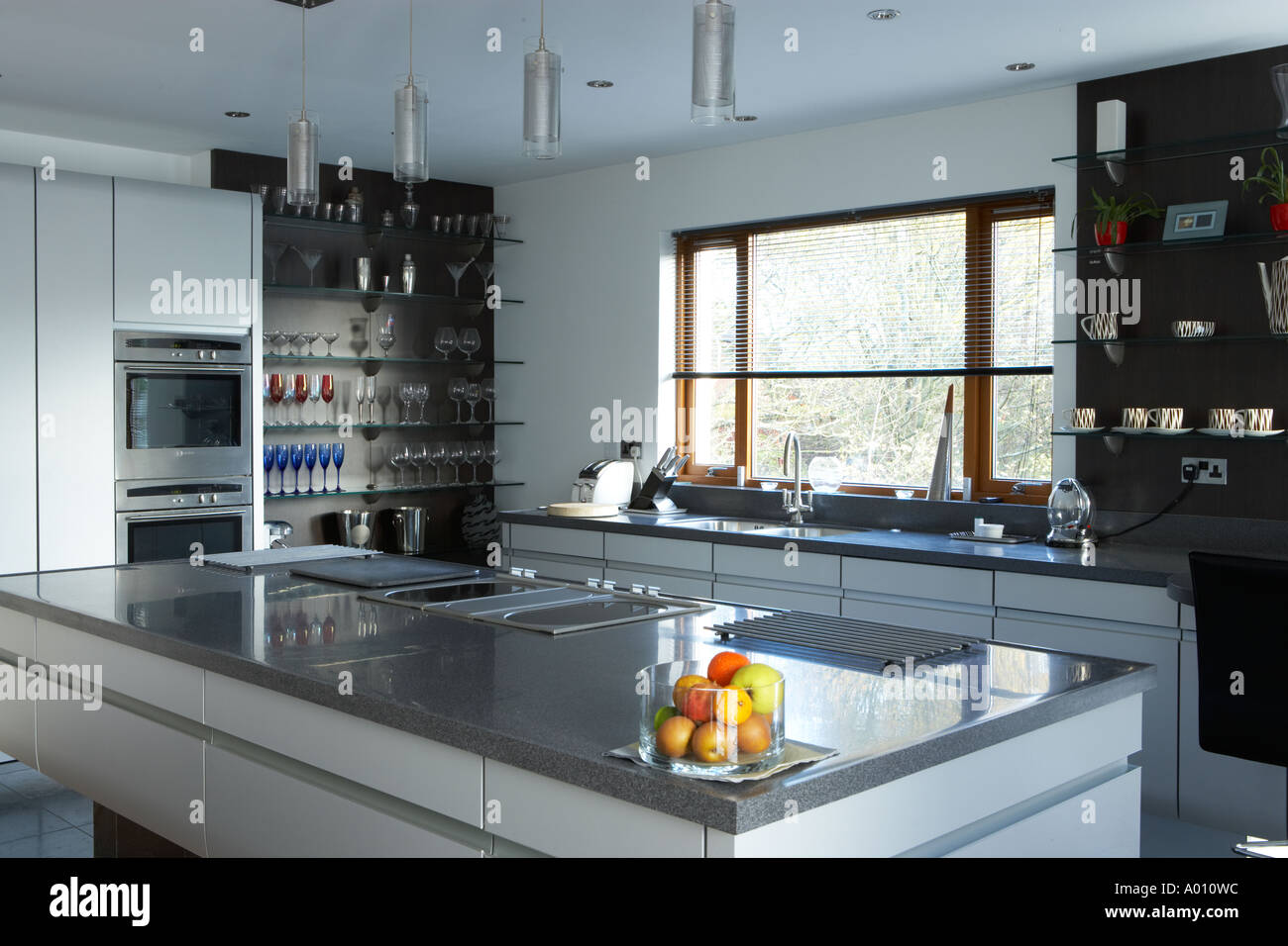 kitchen central food preparation area in modern house stock stock photo kitchen central food preparation area in modern house
