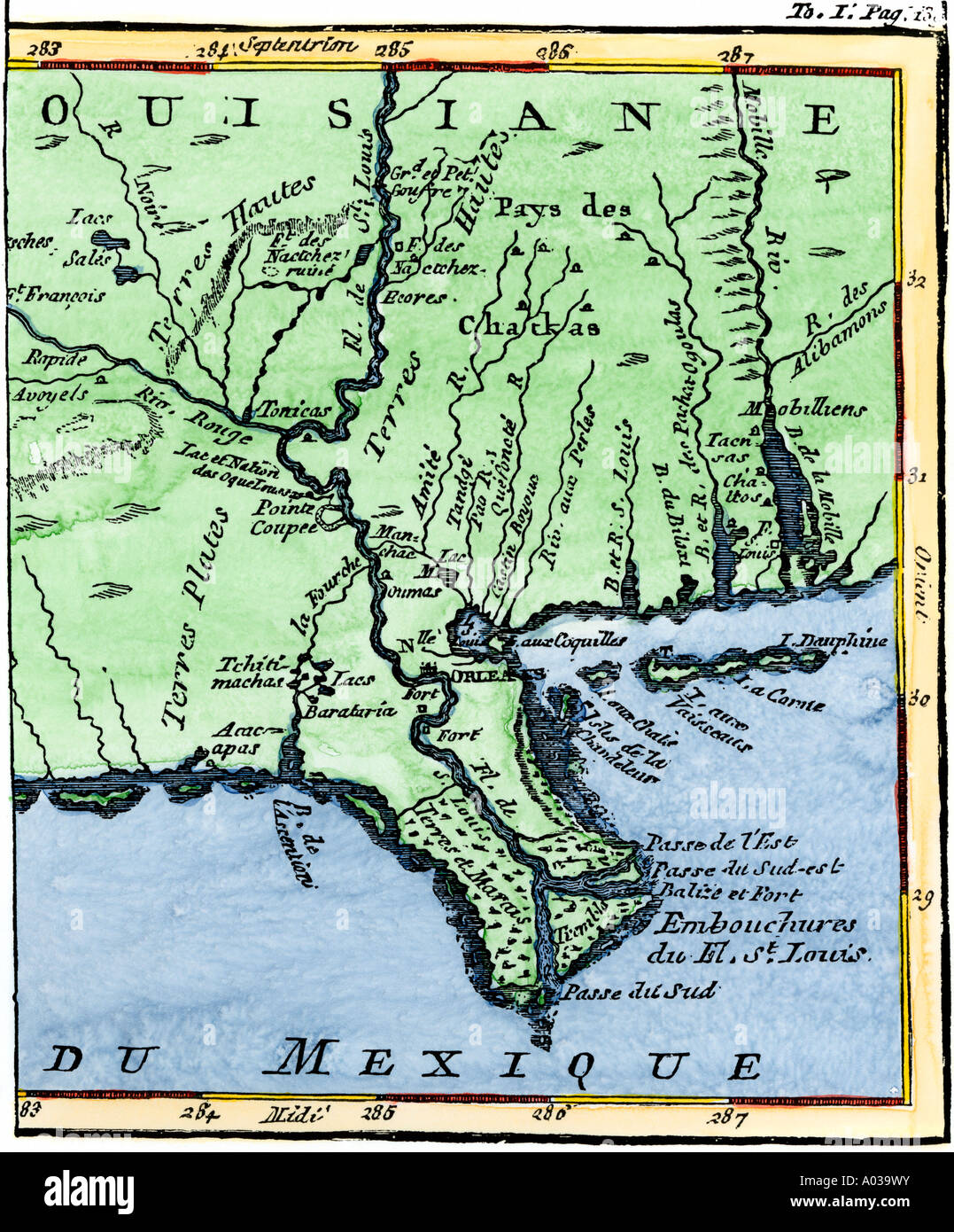 Map Of Louisiana In Showing The Mouths Of The Mississippi - Map of the mississippi