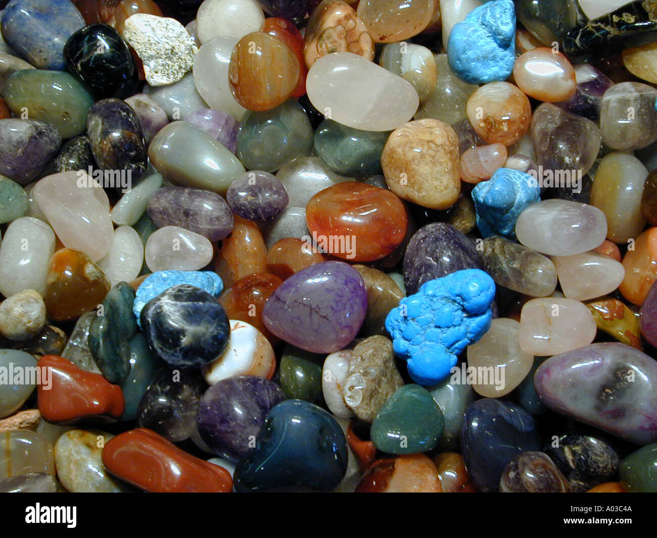 Polished stones for sale in a gift shop in Albuquerque New Mexico ...