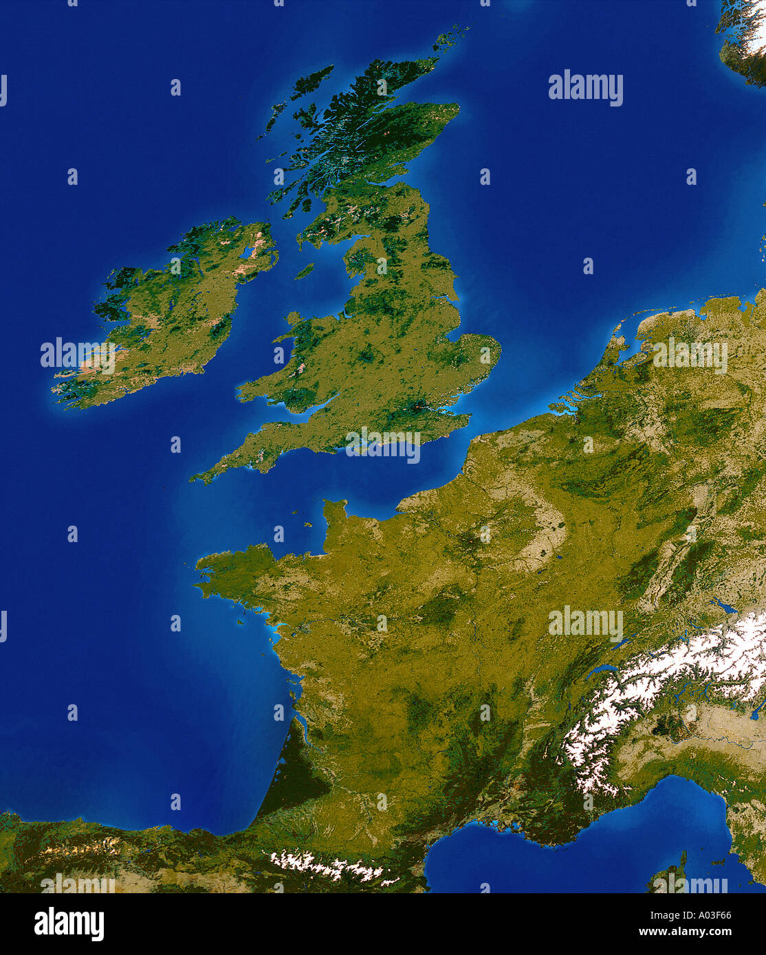Europe Satellite Continent Stock Photos Europe Satellite - Europe satellite map