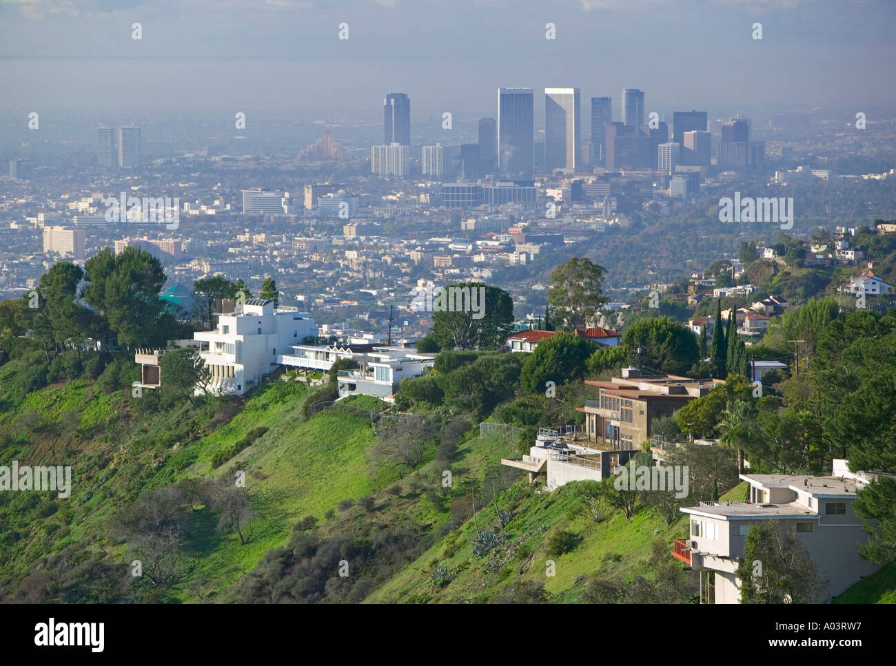 hollywood hills view of century city los angeles. Black Bedroom Furniture Sets. Home Design Ideas