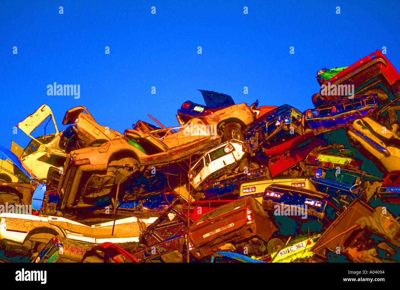 scrap car wrecks metal junk rust scrap yard scrap dealer recycling ...