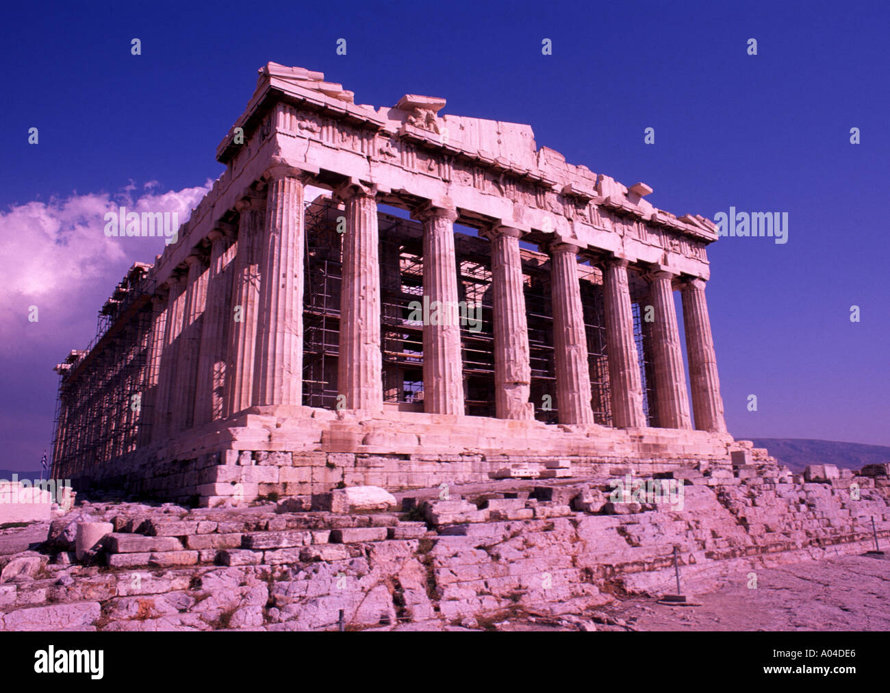 Ancient Greek Architecture The Parthenon On Acropolis Athens Greece