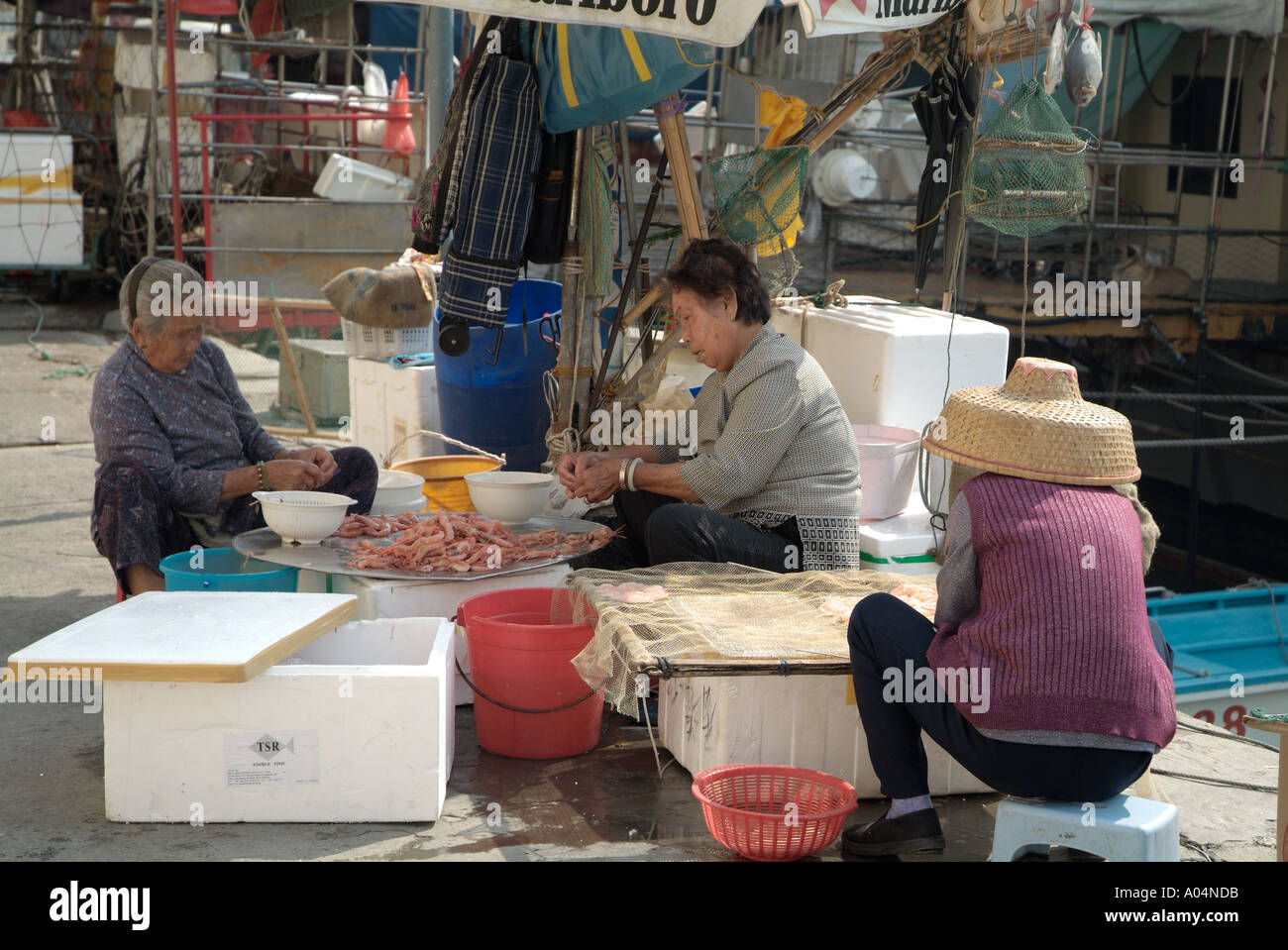 Dh fish market aberdeen hong kong chinese women grading for Oriental fish market