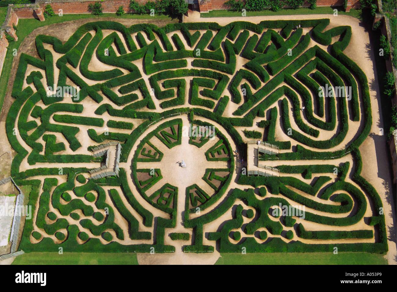Marlborough Hedge Maze Blenheim Palace Oxfordshire UK