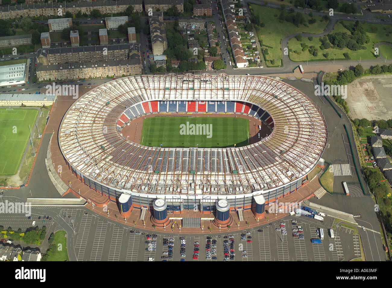 Aerial View Of Hampden Park Stadium In Glasgow Scotlands National Football Also Home Queens Club