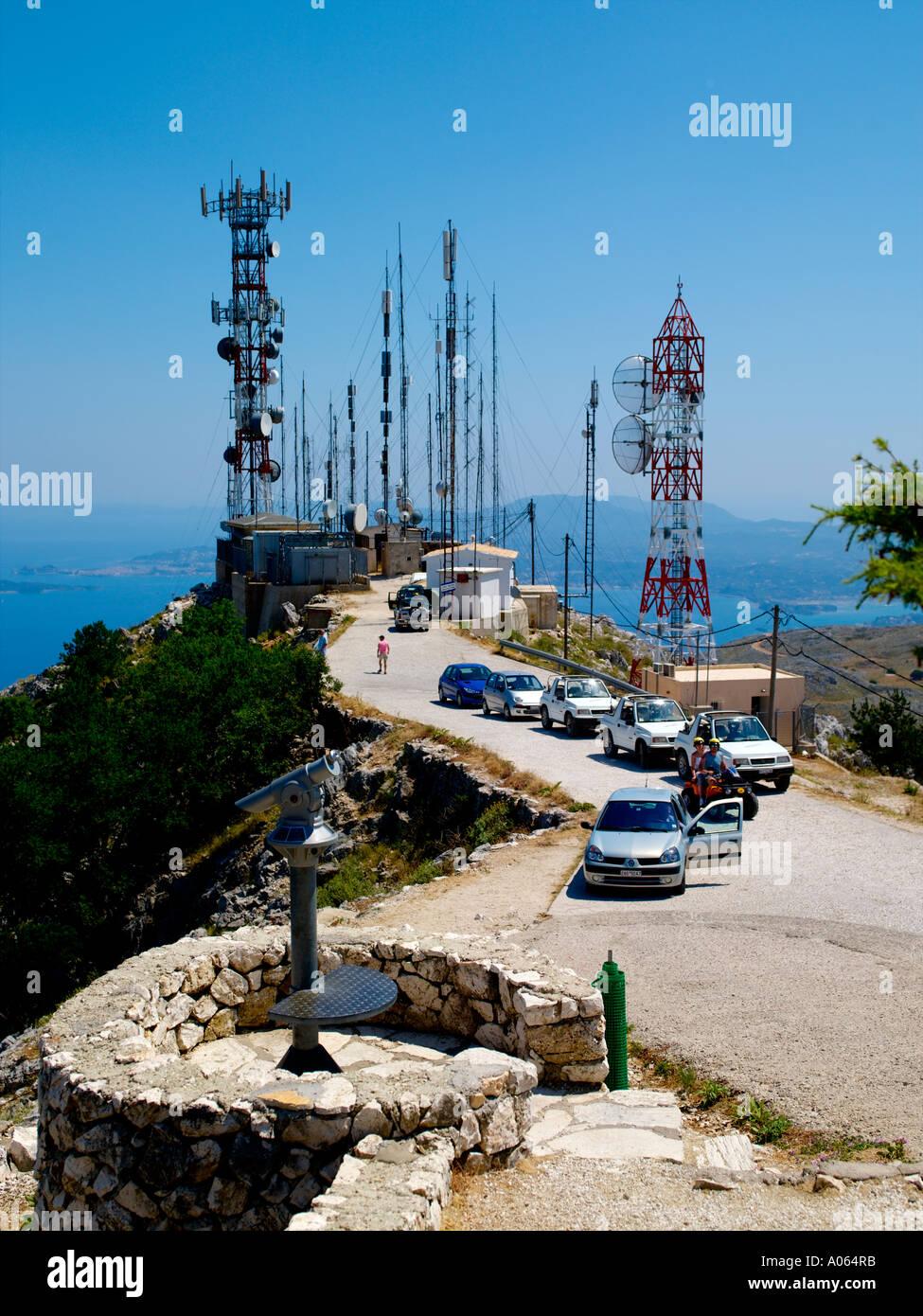 Corfu Island, Mount Pantokrator Stock Photo, Royalty Free ...