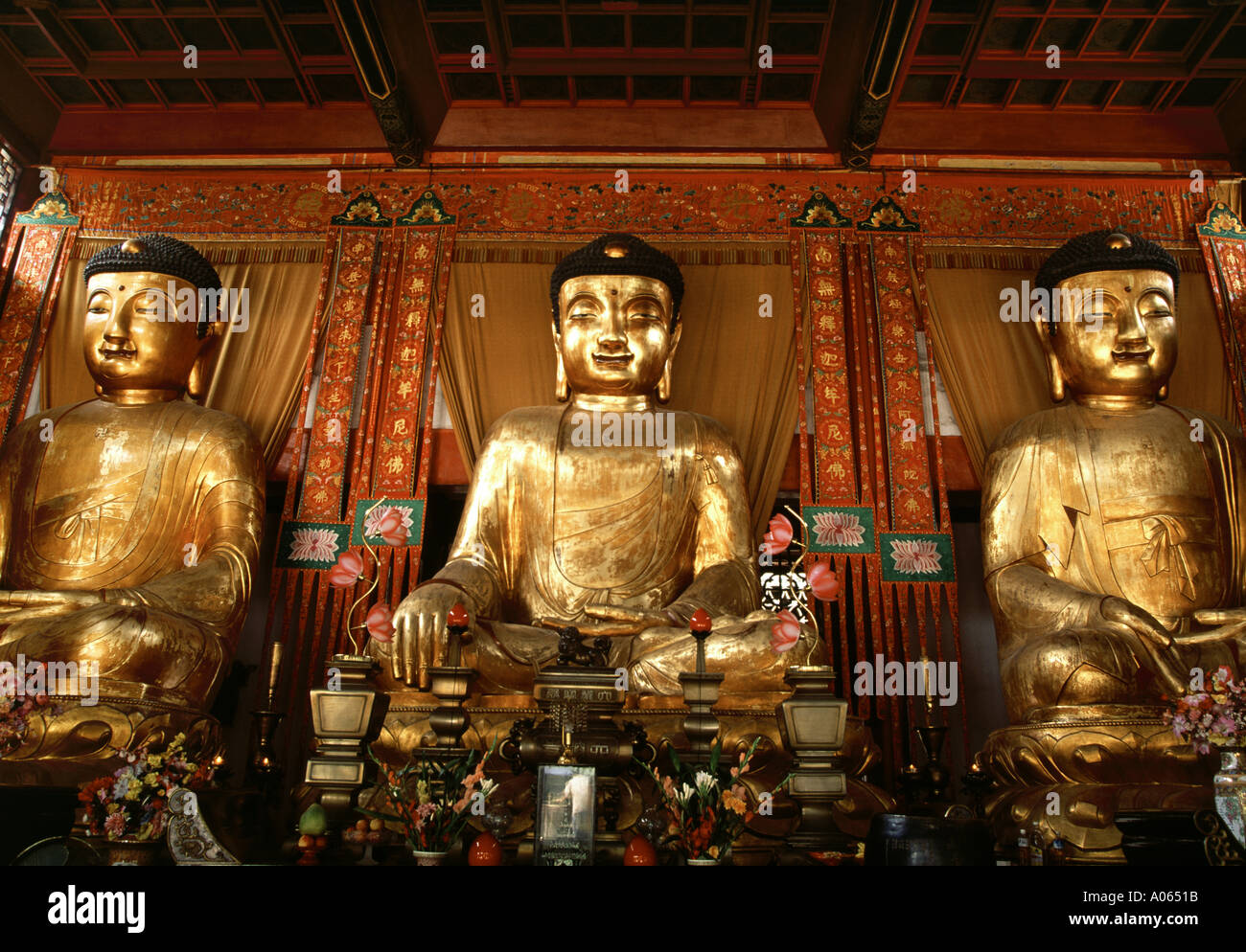 Three Buddha Altar Temple Of The Six Banyan Trees