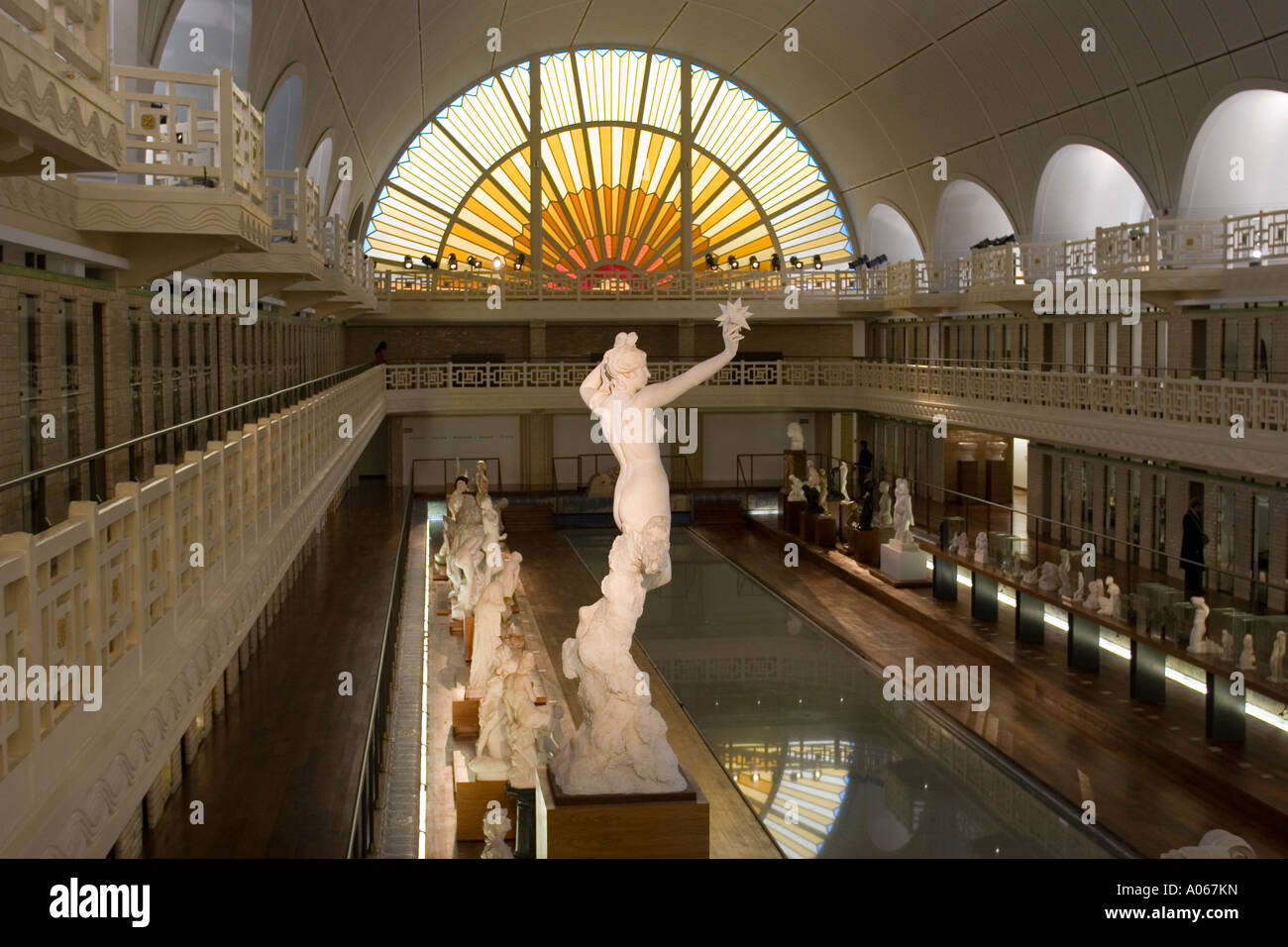 Art and industry museum la piscine lille france stock for Art deco piscine
