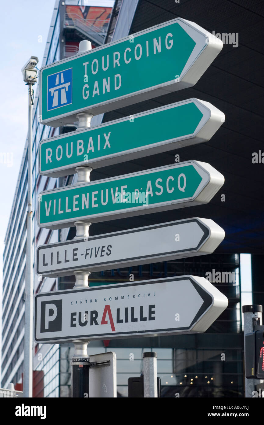 road direction signs lille france stock photo royalty free image 9893549 alamy. Black Bedroom Furniture Sets. Home Design Ideas