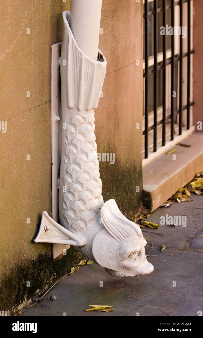 decorative downspout in historic savannah georgia - Decorative Downspouts